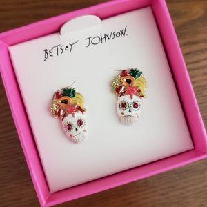 Betsey Johnson Rio Sugar Skull Earrings